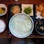 瀬戸内製麺710 - 冷やしうどん&ももとり天&玉子かけご飯(H25.5.2)