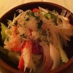 18768434 - 蟹サラダ。