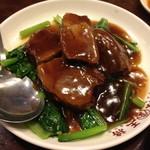 大阪王将 - 東坡肉(豚バラ肉の角煮)(1,340円)2013年5月