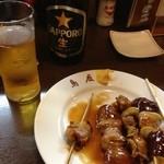 18769479 - 焼鳥たれ:豚精、しろ、レバー,ビール
