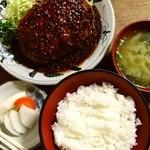 とんかつ 五郎十 - ミンチゴマ入生姜焼定食750円