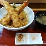 18770631 - 大海老天丼+穴子付+貝汁1,500円♪