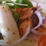 フランス料理 梓屋 - 前菜の野菜に埋もれていたのはサーモン