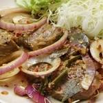 スリランカ料理 ラサハラ - ビステーク800円 スリランカ風ビーフステーキ