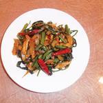 スリランカ料理 ラサハラ - 各種野菜テンパラード(油炒め煮)500円~
