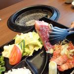 Sumibiyakinikuyamato - カルビ定食 1380円
