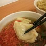 麺や蒼空  - 見よ♪スープの中から~餃子が出てきたよぉ(*^^*)