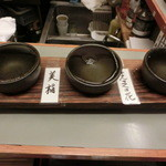 鳥九 - 料理写真:日本酒飲み比べ(秋田の地酒)