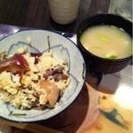 あじごよみ懐凪 - 豊後飯&ハマグリと豆腐の味噌汁