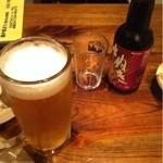 鳥長 - 生ビール(530円)、さぬきビール(550円)