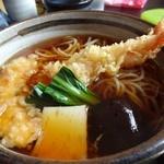 絹引の里 - 絹引天ぷら生姜うどんアップ