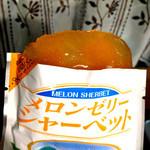 道の駅 七城メロンドーム - レトルトパックにメロンゼリー液が入ったもの。                             そのままではなく、凍らせて頂きます。