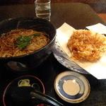 長生庵 - 桜海老のかき揚げ蕎麦