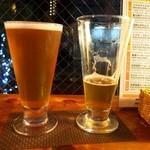 ザ セカンド バイン - グラスのサイズ比較(左:M、右:L)