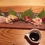 正夢 別邸 - 料理写真:鶏刺し身