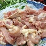 ふる里 - 鍋の鶏肉。