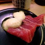 ほてい寿司 - まぐろ山かけ:100円