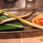 あじごよみ懐凪 - サヨリ、鯛 ゆうあん焼き