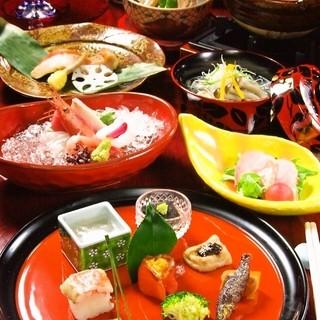 月替わりの【懐石コース】で移り行く日本の四季をご堪能下さい。