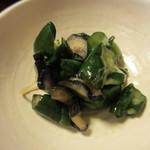 京料理 八平 - 茄子と胡瓜の漬物