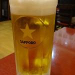 香酒縁 - 生ビール(中):262円