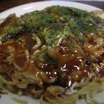 広島風お好焼き本舗 - 1)イカ天・肉・卵・そば