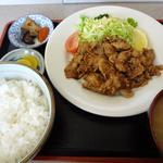 食堂 愛津屋 - 豚生姜焼ライス