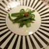 新田中 - 料理写真:グリーンアスパラのサラダ