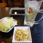 串桂 - 2013.05 ハイボール450円、キャベツはサービスですがお替りから有料注意!
