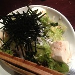 18808326 - 豆腐とじゃこのサラダ