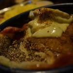アジアンスープカリー べす - フィッシュフライ+フィッシュ+べこもチーズ