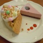 ange - ブラックベリーのチーズケーキとハーフシフォン(メープルくるみ)♪