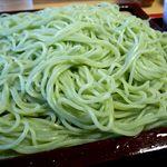 東家 川北分店 - もりそばの麺アップ
