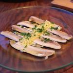 目白スペインバル - ボケロネス (ヒコイワシの酢漬け)