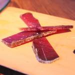 目白スペインバル - スペイン産カラスミ盛合せ (マグロの背肉)