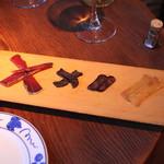 目白スペインバル - スペイン産カラスミ盛合せ