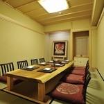西麻布 いちの - 最大8名の個室。掘りごたつ式で、大人数の会食会にお薦めです。
