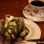 koko ti cafe - シフォンケーキセット550円