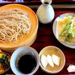 蕎麦わび介 - 春野菜の天せいろ!