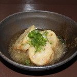 居酒屋焼肉 わのや - 料理写真:エビのレンコンはさみ揚げ~みぞれ仕立て~