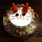 カフェギャラリー幻 - 白猫プリン