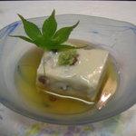 御宿 友喜美荘 - 料理写真:水無月豆腐、旨出仕立て、山葵