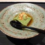 京甲屋 - 蓬豆腐に生海胆と山葵。