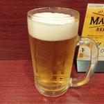 フタバ@アットカフェ GIGA広島駅前店 - 生ビール
