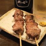 登運とん - 2013.5 かしら塩(1串120円)、たん塩(1串120円)