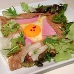 ラ・プレシューズ - ハムとチーズのガレット