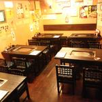 もんじゃ焼 うーちゃん - 大きなテーブル4名様×5席