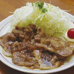 山王夢食堂 - 庄内豚の生姜焼き定食