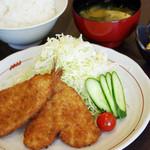 山王夢食堂 - アジフライ定食