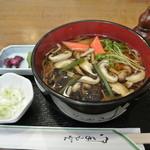 民芸茶屋 もとよし - 山菜蕎麦¥650